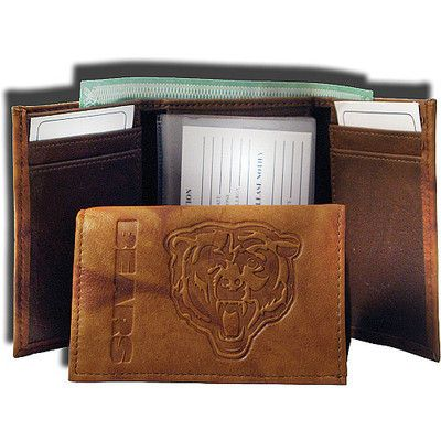 Chicago Bears Standard Embossed Trifold Leather Wallet NFL | eBay