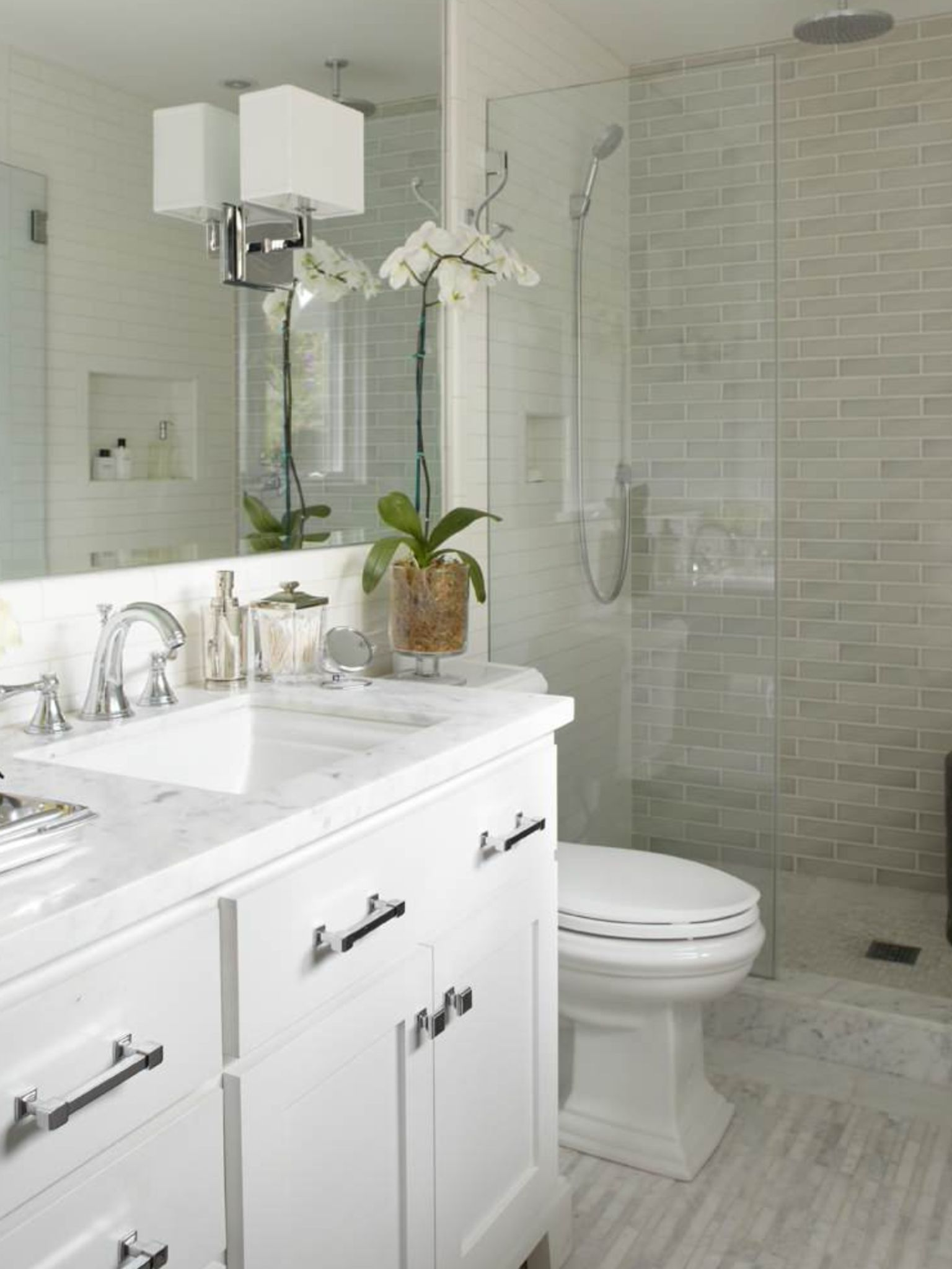 Houzz Rectangle Tiles Bathroom Ideas Pinterest Houzz Bath And Intended For 10 Elegant Master Ba Bathroom Design Small Small Bathroom With Shower Small Bathroom
