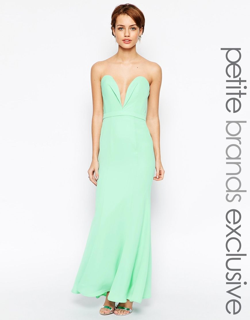 3c92b68cbe Image 1 of Jarlo Petite Helena Sweetheart Neckline Bandeau Maxi Dress