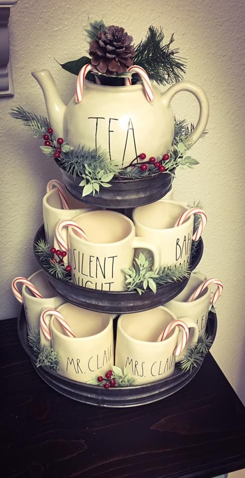 Hobby Lobby 3 Tier Galvanized stand is perfect for my Rae Dunn mug ...