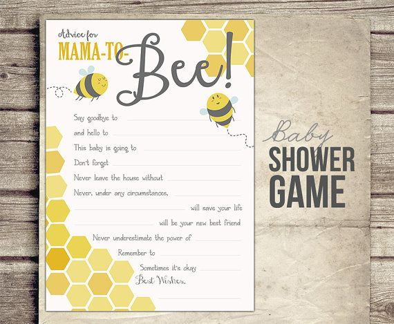 Advice Baby Shower Game Mom To Bee By StudioTwentyNine 500