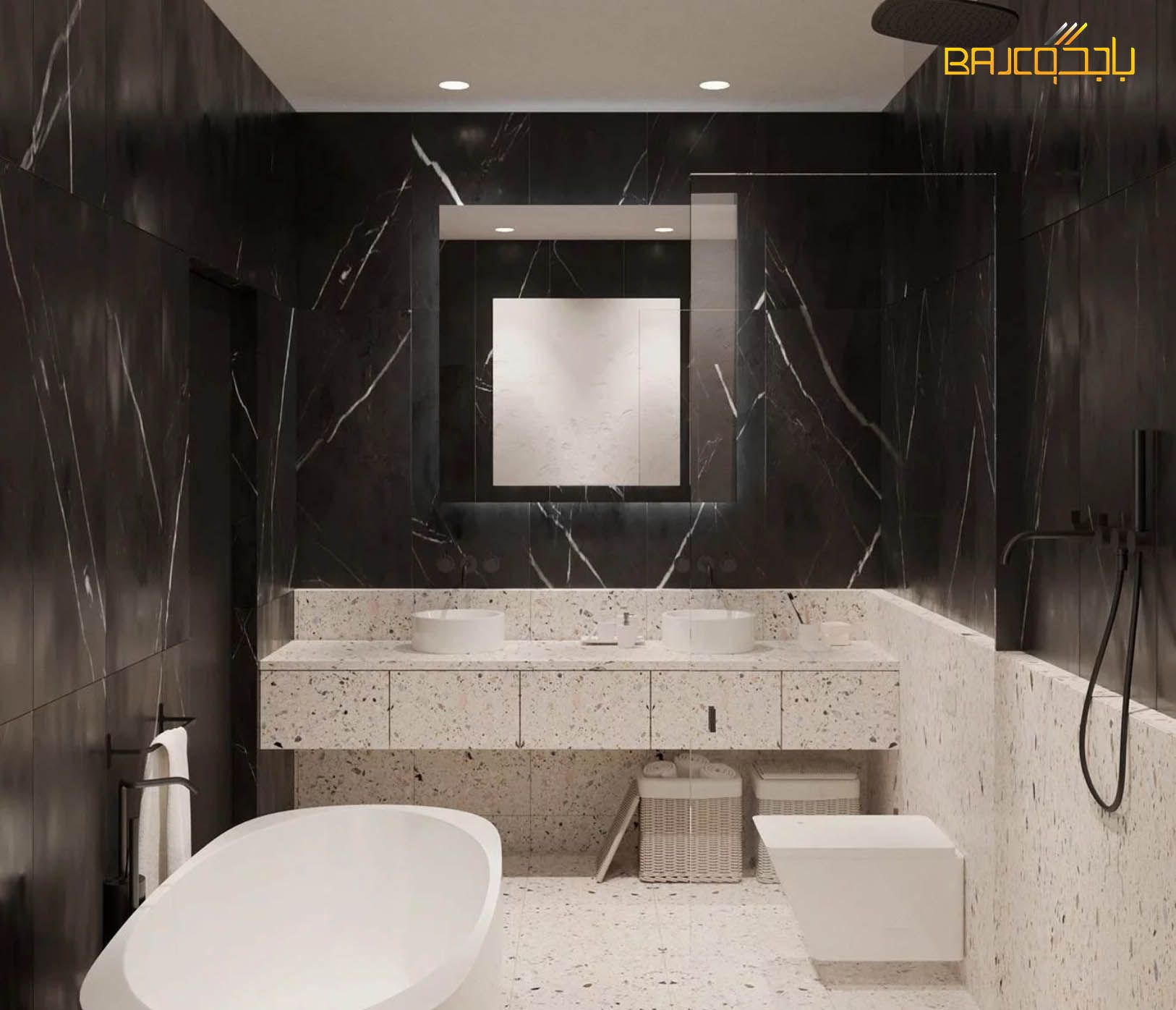 مغسلة تيرازو Bathroom Bathtub Marble