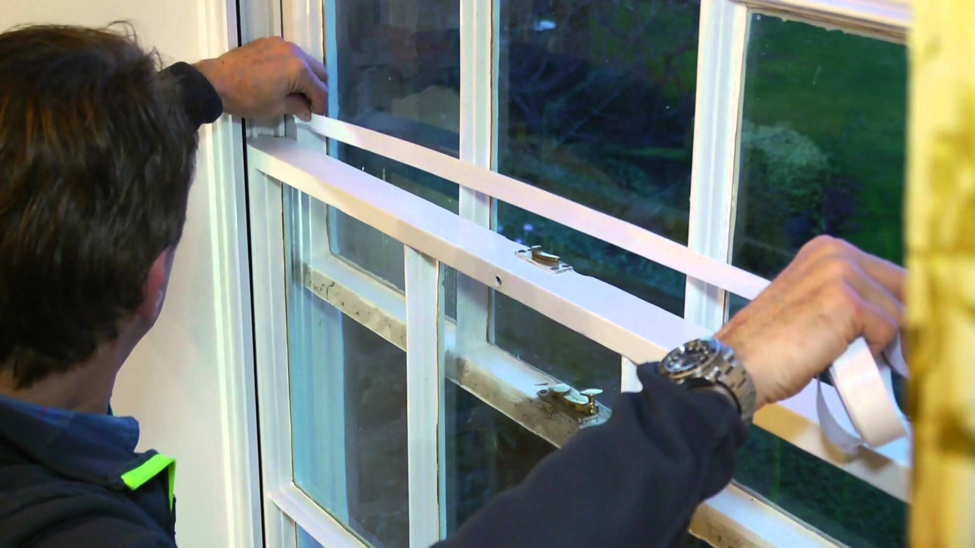 Sash window draught proofing specialists fitting a