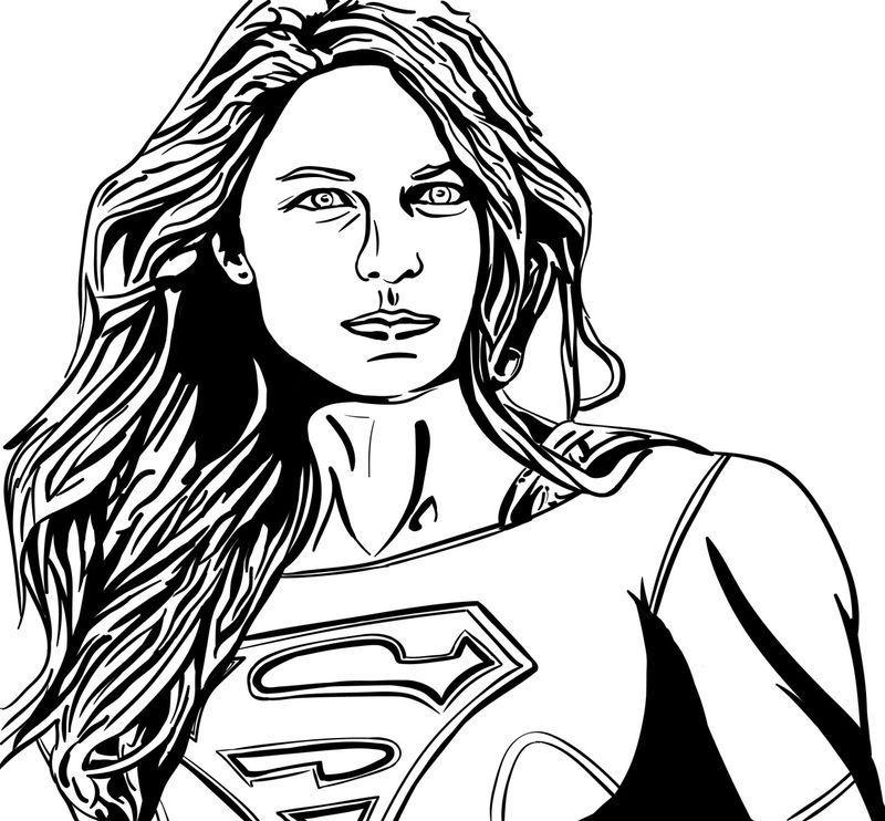 Weiblicher Superheld Supergirl Malvorlagen 001