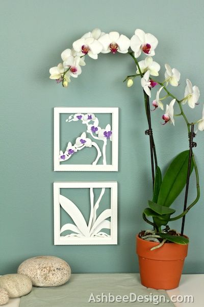 Ashbee Design Silhouette Projects  D Orchid Shadow Box