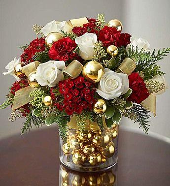 Gorgeous Christmas Floral Arrangement Christmassy Lovelieness - Christmas arrangements