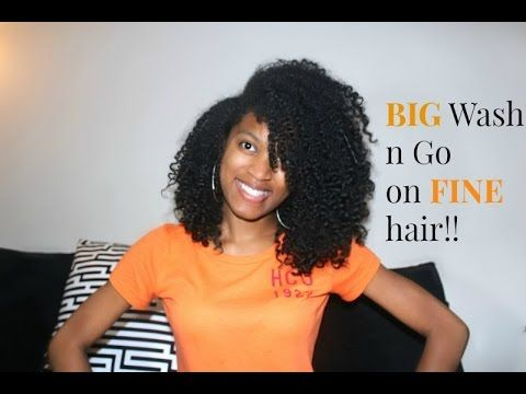 Wash And Go Hairstyles For Fine Hair Mesmerizing How To Get A Big Wash N Gonatural Hair  Youtube  Who You Calling