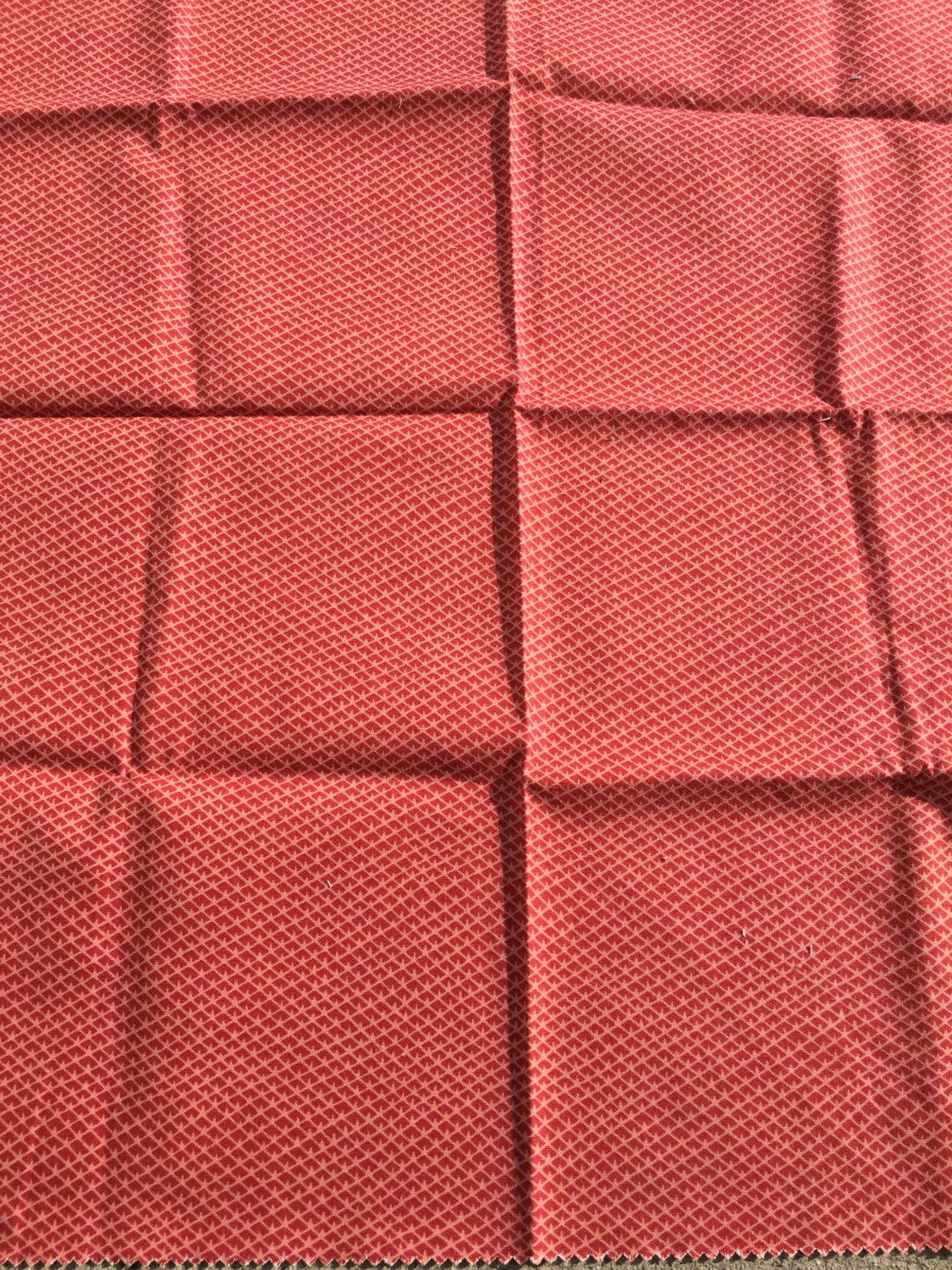 "Red Robert Allen Fabric Demeure Coral 26"" X 26"" 100% Cotton + Free Samples with Order!!! by Fabricsamples10 on Etsy"