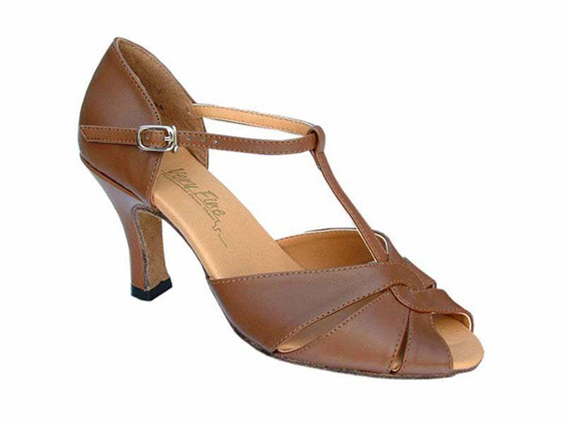 Tango Dancing Shoe Coffee Brown Leather :: Ballroom Dancing Shoe :: Tango Shoes