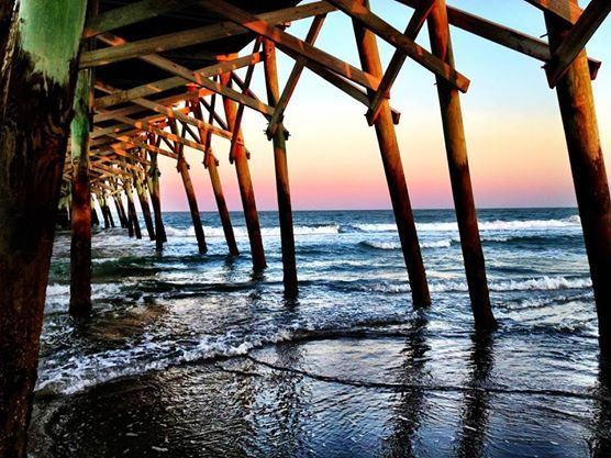 Gotta love the view from under the Myrtle Beach Pier! #MyrtleBeach