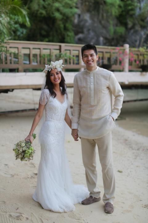 Groom 39 S Barong J A Cliff Beach Pinterest Wedding