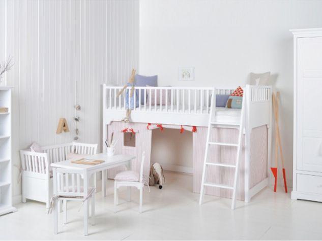Etagenbett Oliver : Oliver furniture halbhohes hochbett inkl. spielvorhang rosa