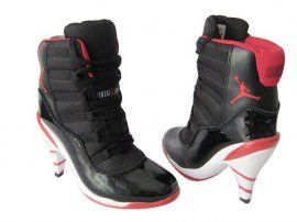 Air Jordan 11 High Heels White Black red [NK-00358] - $104.99 :