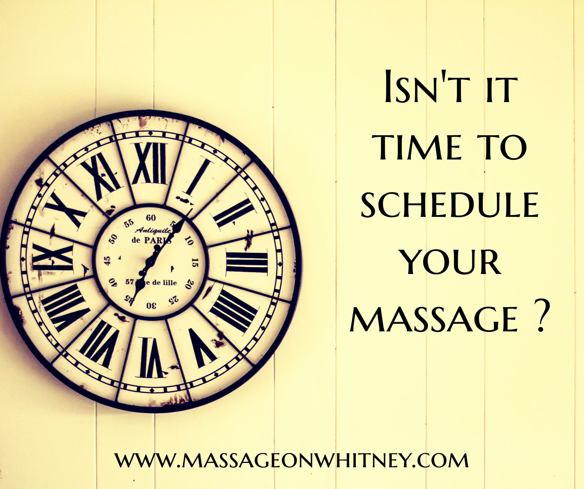 Isnt it time to schedule your massage www