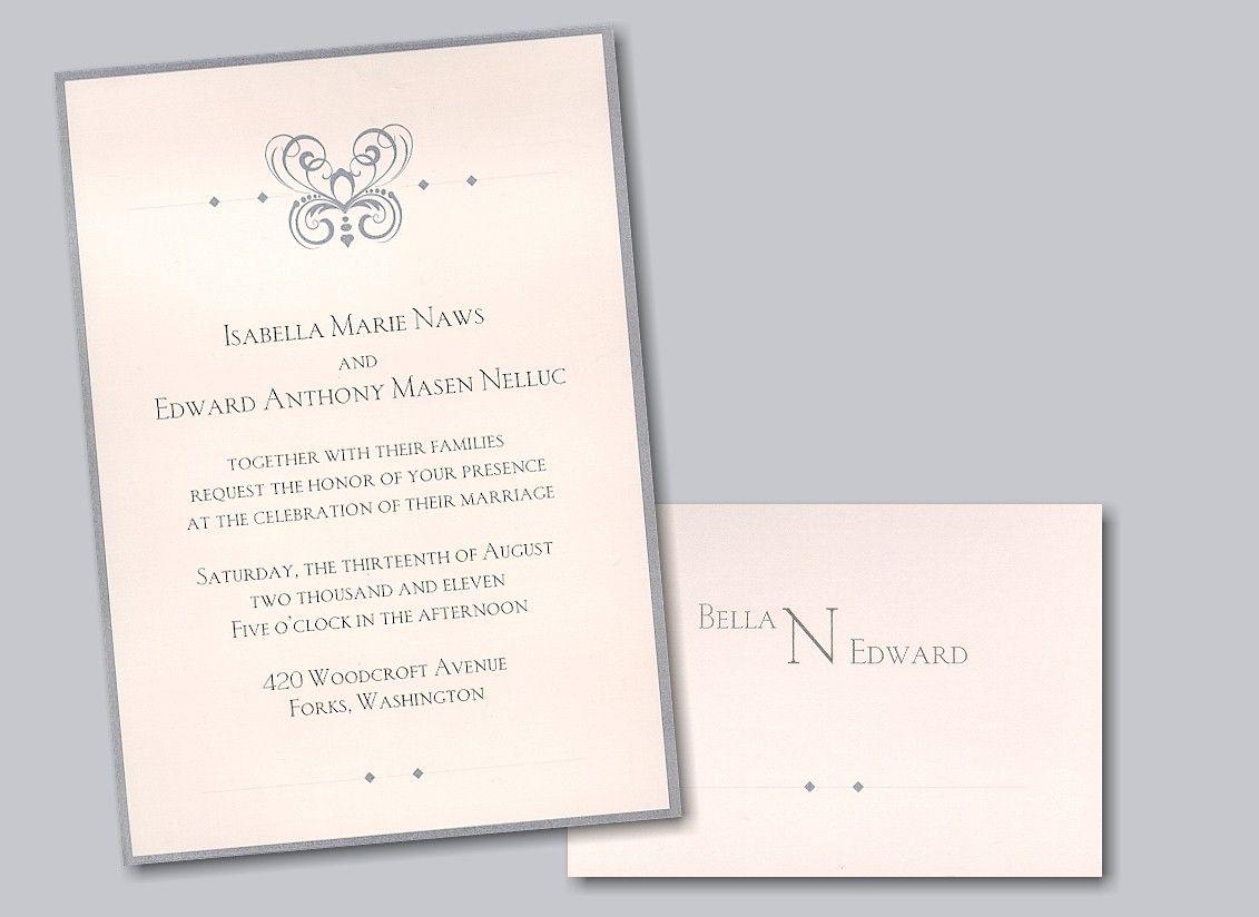 Twilight Wedding Invitation | Wedding Invitations | Pinterest ...