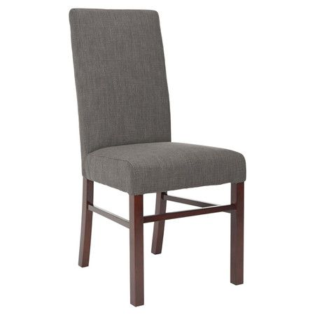 Found It At Wayfair Classical Cotton Parsons Chair In Charcoal Set Of 2 Dining Chairs Solid Wood Dining Chairs Side Chairs