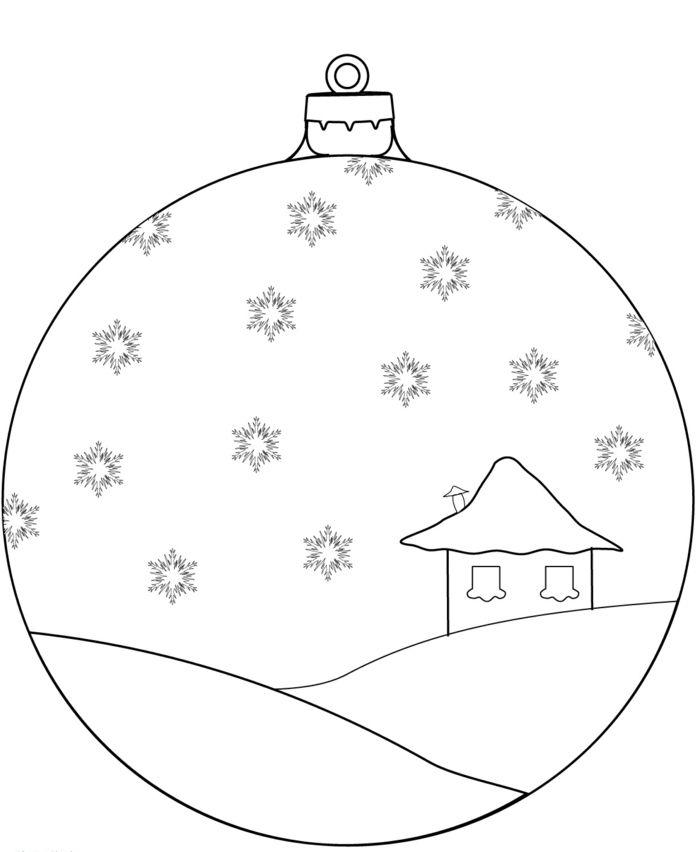 Новогодние картинки для распечатки шарики