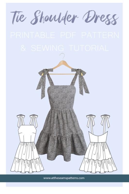 Sewing Tutorial: Tie-Shoulder Summer Dress