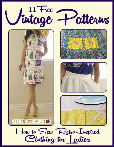11 Free Vintage Patterns: How to Sew Retro-Inspired Clothing for ...