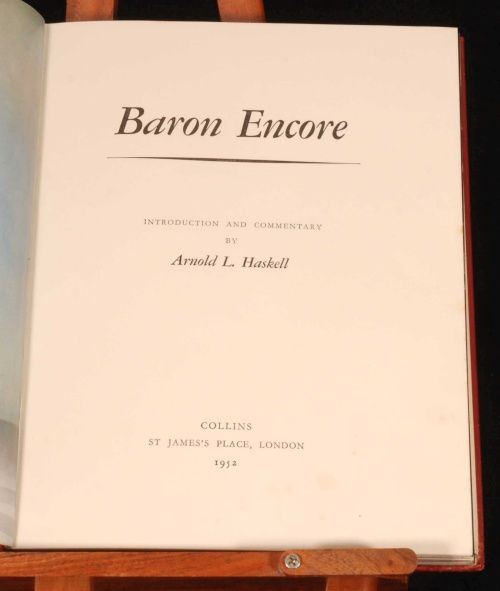 """Antonio y Rosario  aparecen en el libro Baron Encore Introduction and Commentary by Arnold L. Haskell This Volume is No. 88 of an edition limited to 250 copies, signed by the authors 1952 - London - Collins 11"""" x 9"""", 222pp 