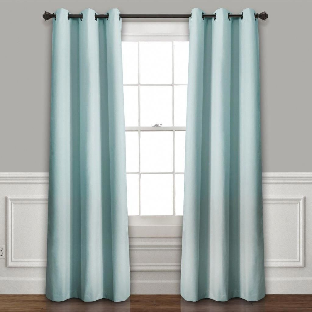 Absolute Blackout Window Curtain Panels Blue 76x95 Set Each 38x95