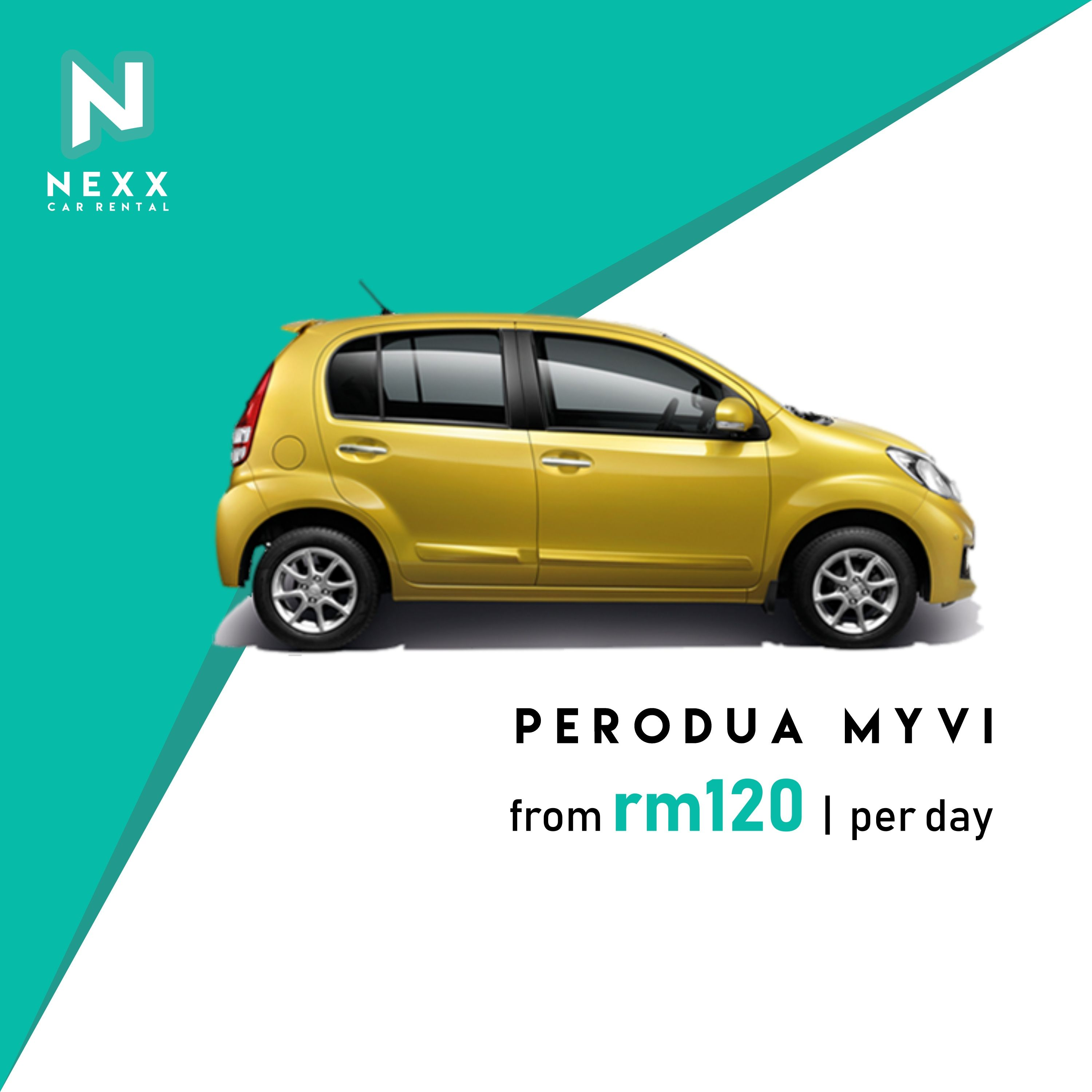 Perodua Myvi Rental Sewa Low Deposit The Most Famous Malaysian Made Compact Comes With A Powerful Punch Of Torque And Cabin Car Rental Kuala Lumpur Rental