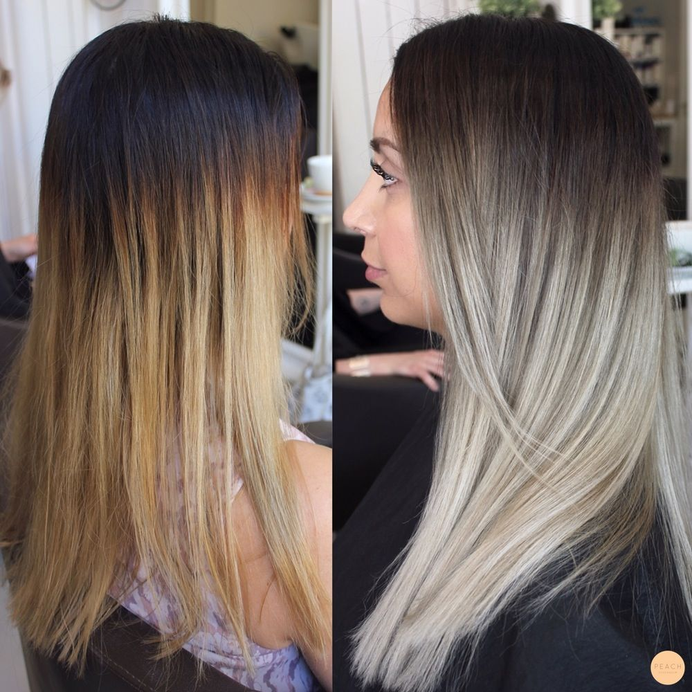 Before And After Ashy Blonde Ombre Hair I Love Hair Blonde Hair