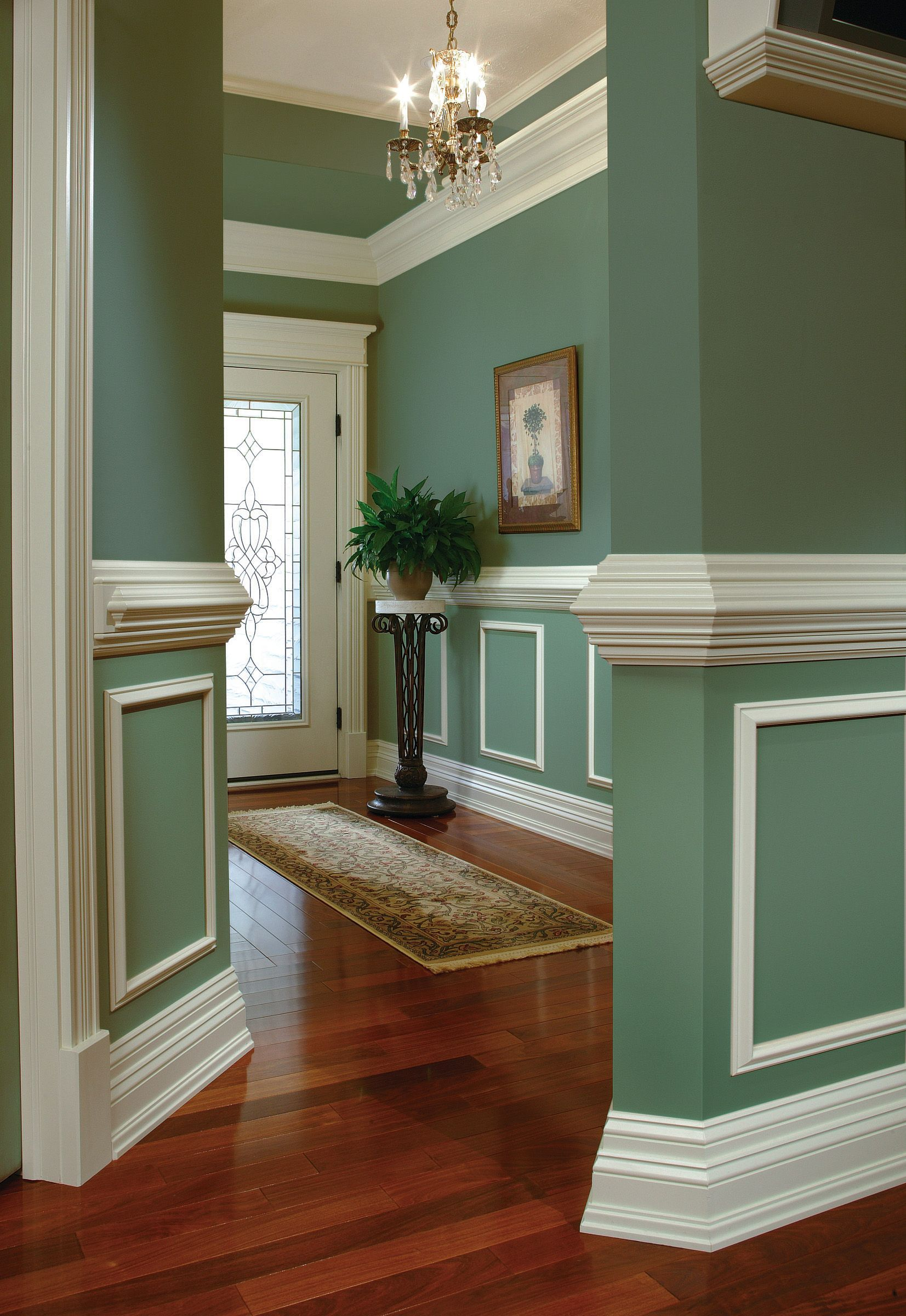 Practical and decorative, a chair rail adds elegance to