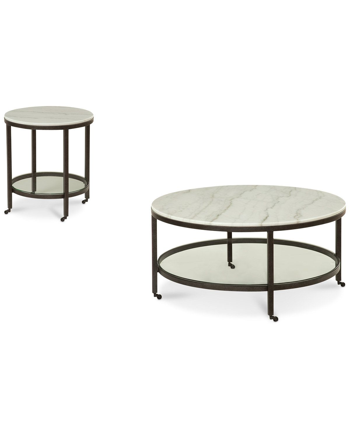 Living Room Coffee End Tables Macy S Stratus Round 2 Pc Set Coffee End Table 1 798 00 Coffee Table Furniture Marble Top Coffee Table [ 1467 x 1200 Pixel ]