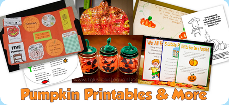 Pumpkin Printables & More from 1+1+1=1