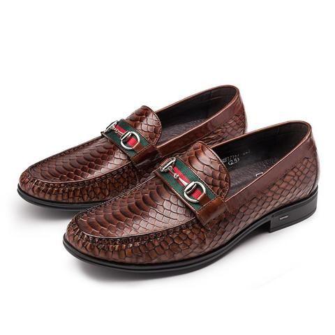 men's moccasins serpentine men's shoes genuine leather