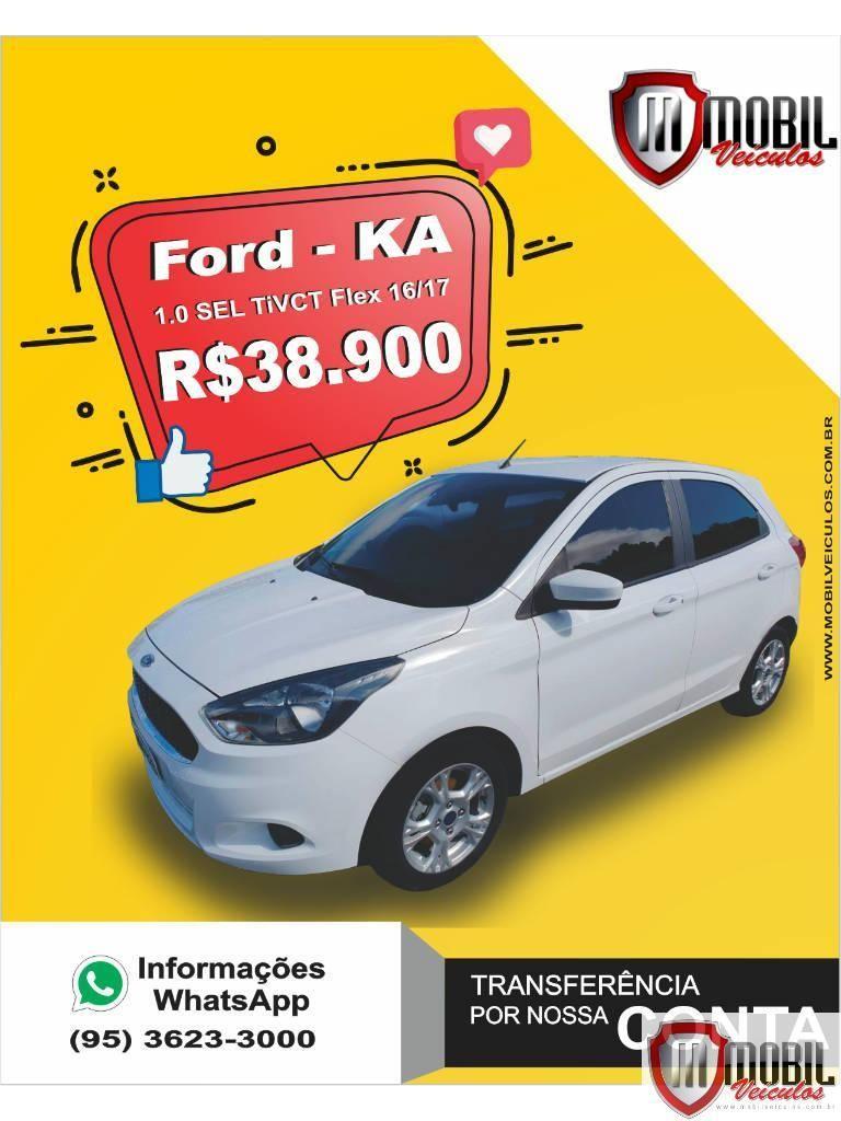 Ford Ka 1 0 Sel Tivct Flex 5p Branca Mobil Veiculos Em 2020
