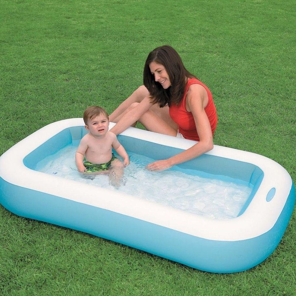 Piscina Gonfiabile Per Bambini Baby Rettangolare 166 X 100 X 28 Cm