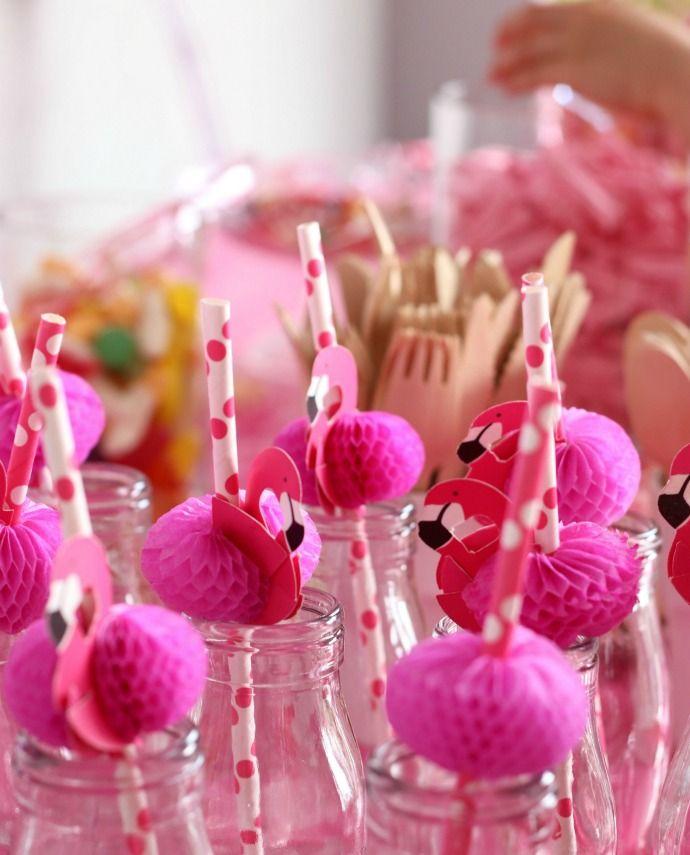 Pink And Blue Flamingo Birthday Party: Eva's Pink Flamingo Birthday Party