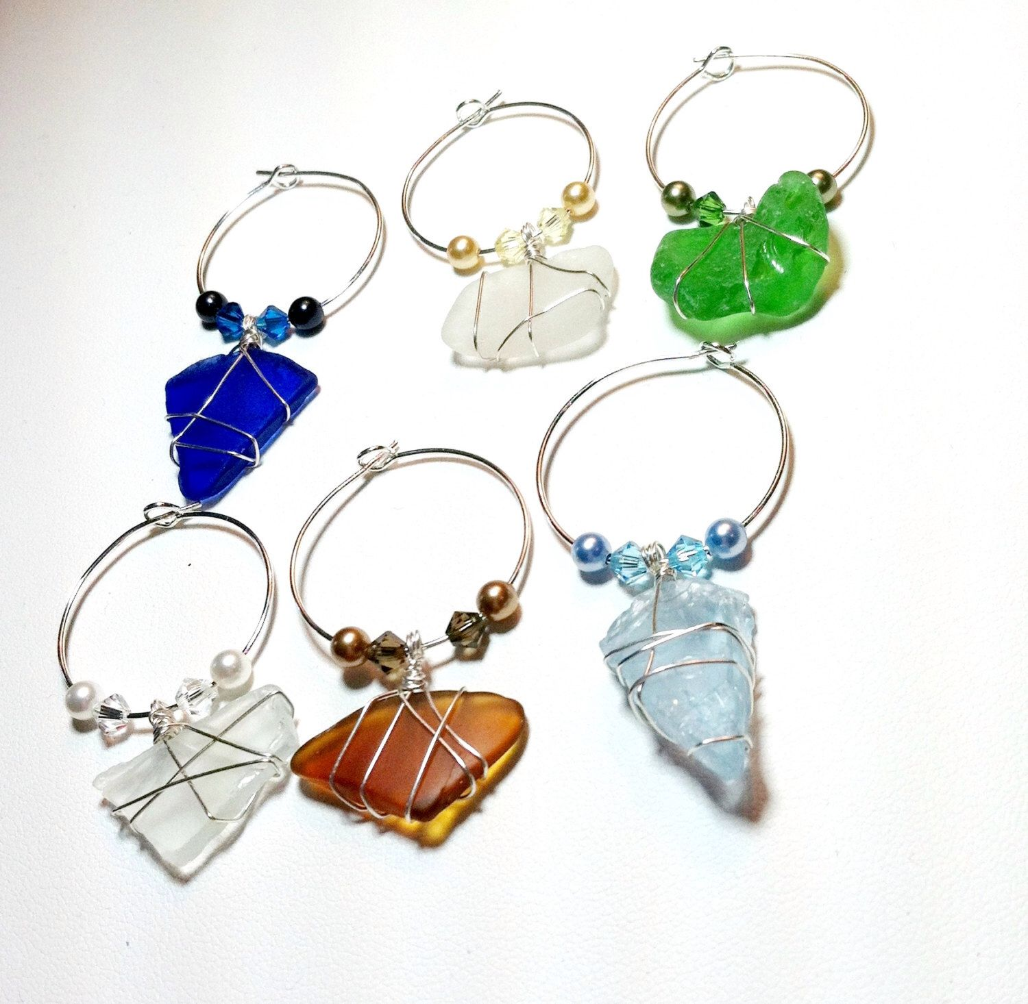 Wine Glass Charms With Finger Lakes Glass Perfect For Wedding