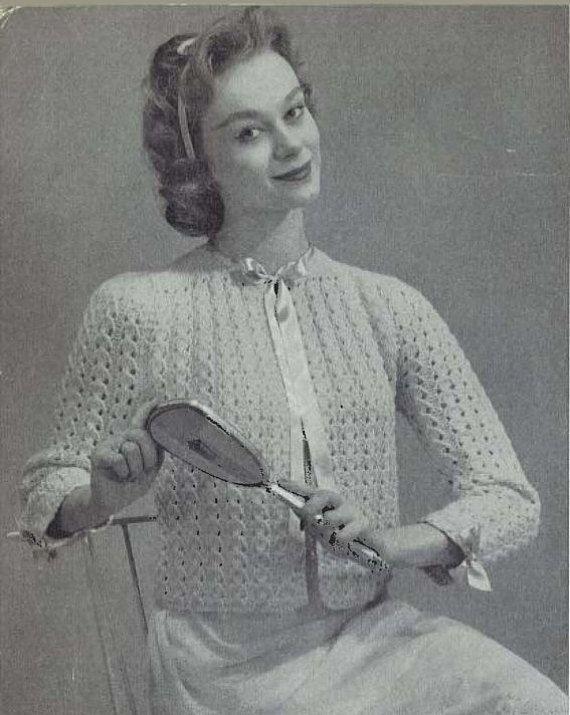 Belle Bedjacket • 1950s Cardigan Bridal Wedding Honeymoon Sweater ...