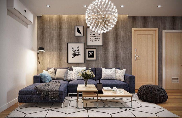 Abbinamento colori pareti arredamento salotto con un for Abbinamento colori arredamento