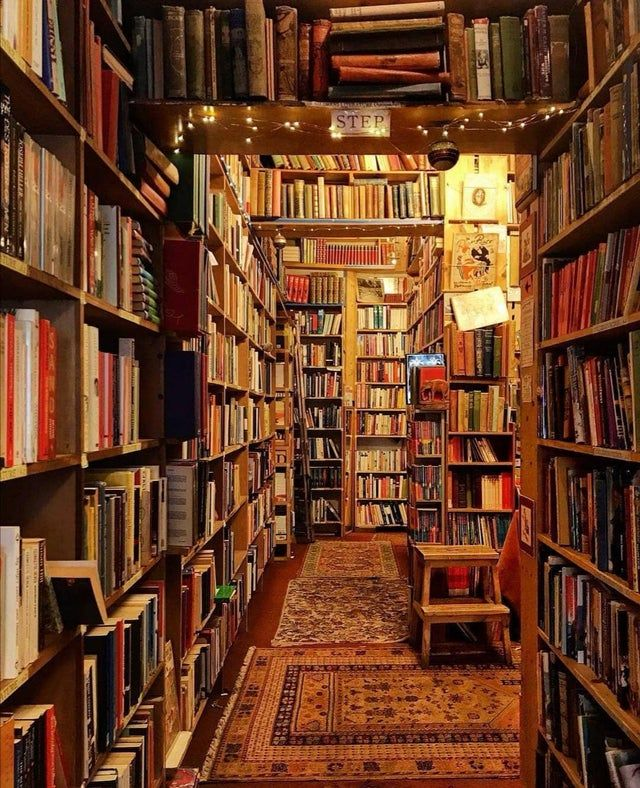 Cosy little bookstore, UK