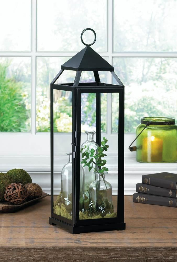 Extra tall black contemporary lantern Products - outdoor christmas decorations wholesale