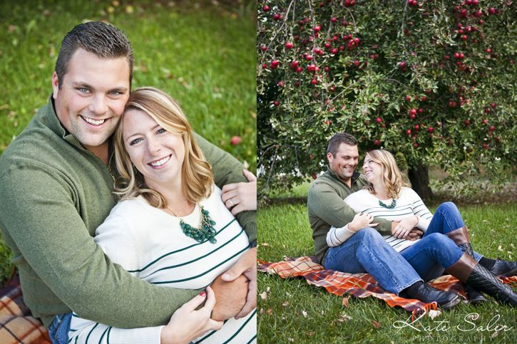 Cute apple tree engagement session - Kate Saler Photography