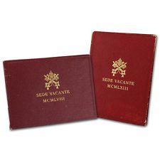 2-pc. Vatican City Sede Vacante Silver 500 Lire