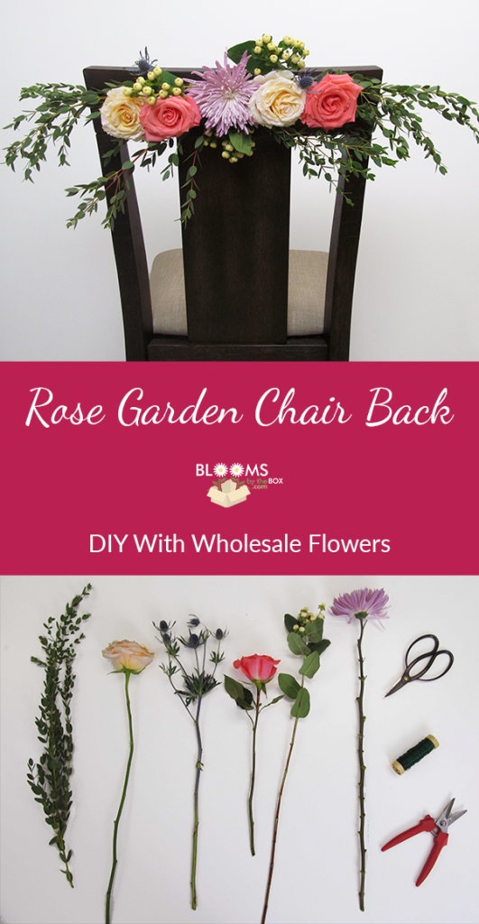 Perfect for a garden wedding, this DIY rose chair back is ...