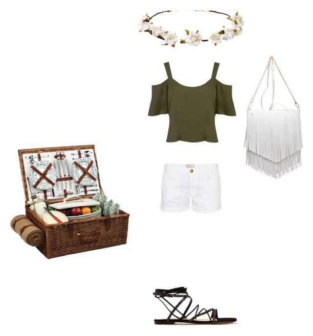 """""""spring picnic"""" by fuzzylexiis on Polyvore featuring Current/Elliott, Patchington, Gianvito Rossi, Picnic at Ascot, Miss Selfridge and Cult Gaia"""