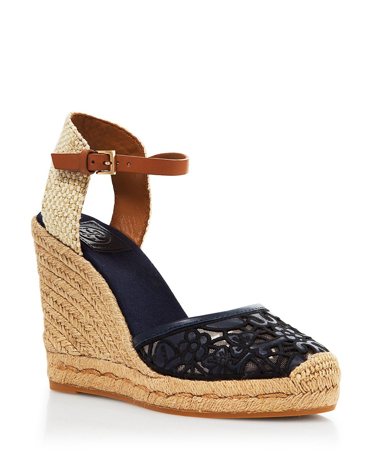 079697290 Tory Burch Platform Wedge Espadrille Sandals - Lucia Lace ...