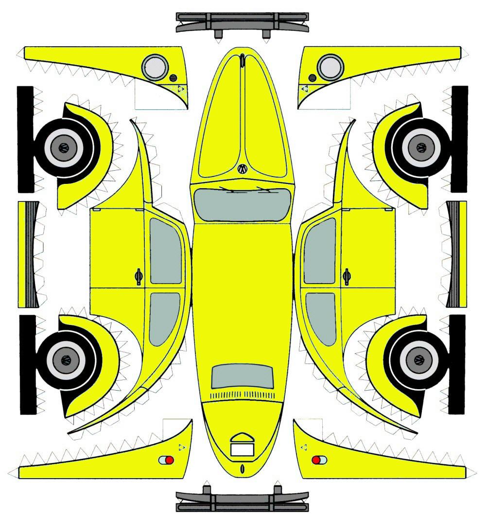 Гоночные машины картинки из бумаги