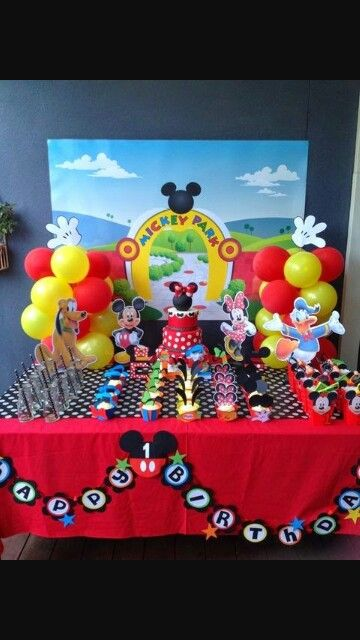 Decoracion la casa de mickey cumple pinterest for Decoracion la casa de mickey mouse