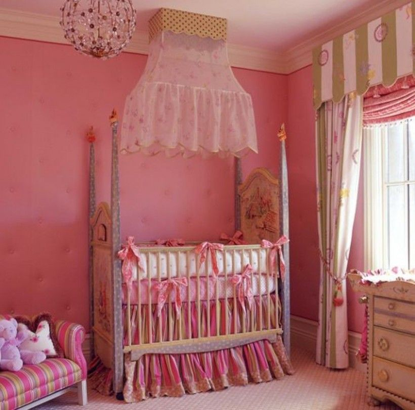 Baby Nursery Elegant Baby Bedding Set For Little Girls Room