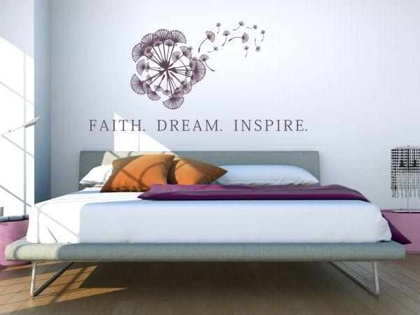 Wandtattoo Faith Dream Inspire | Wandtattoos für Schlafzimmer ...