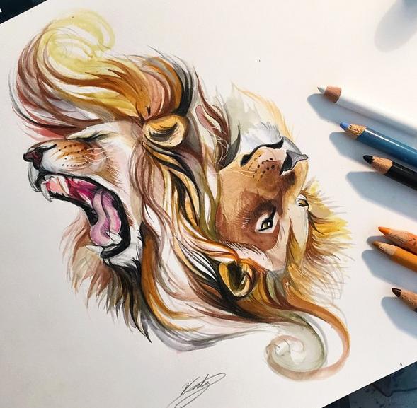 Te Gusta Dibuja Mira Lo Que Puedes Lograr Dessin Lion Dessin