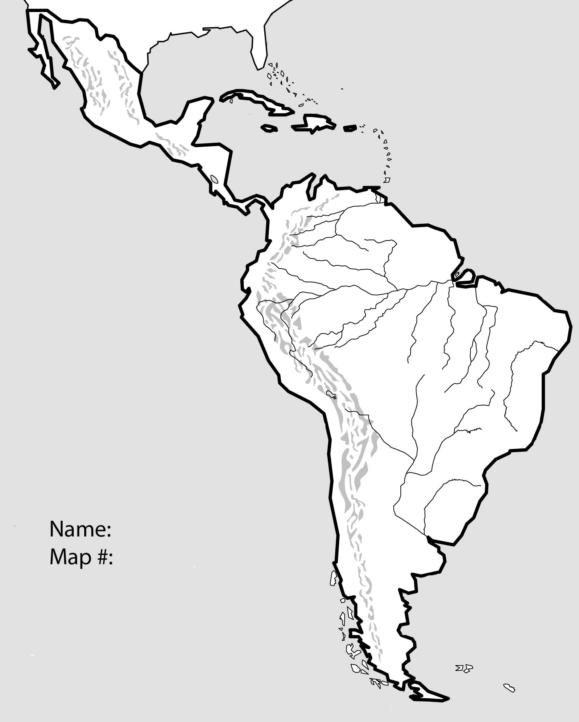 Fresh Latin America Physical Map Quiz 2 Latin America Map Map